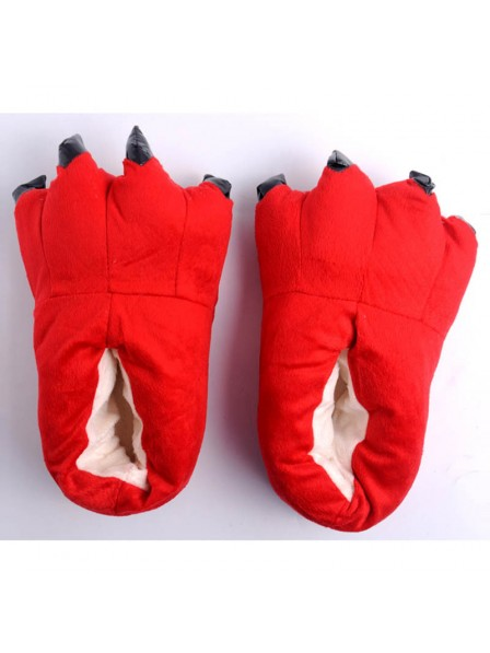 RotPlüsch Pfote Kralle Hausschuhe Pantoffel Tier Kostüm Schuhe