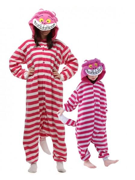 Grinsekatze Kostüm Pyjamas Schlafanzug Tierkostüme für Erwachsene und Kinder