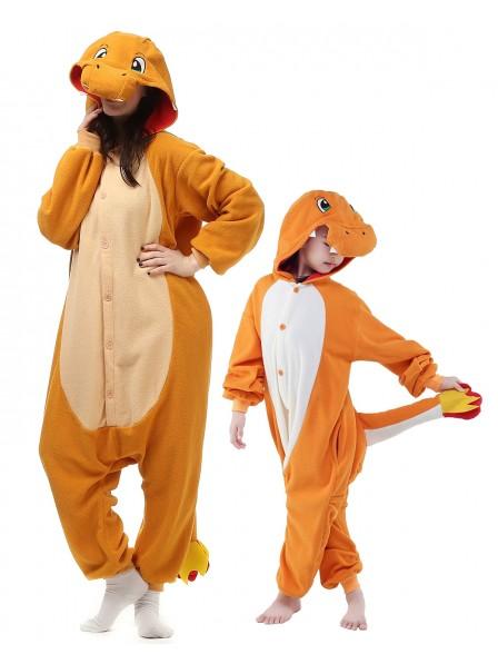 Charmander Kigurumi Onesie Pyjamas Tier Kostüme für Erwachsene und Kinder