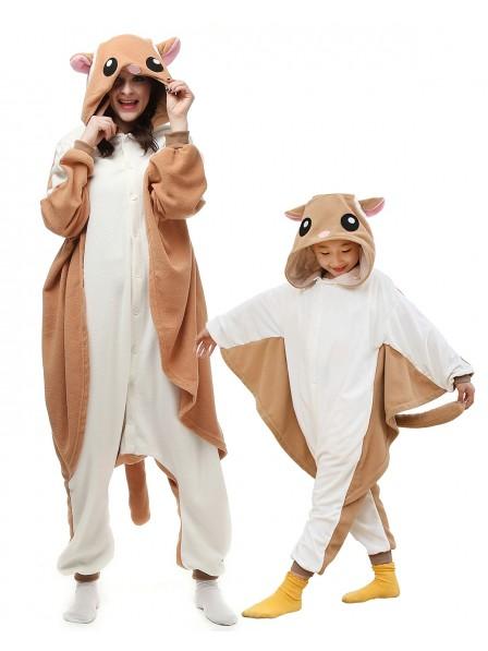 Flughörnchen Kigurumi Onesie Pyjamas Tier Kostüme für Erwachsene und Kinder