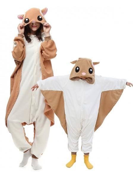 Flughörnchen Kigurumi Unisex Onesie Pyjamas Tier Kostüme für Erwachsene und Kinder