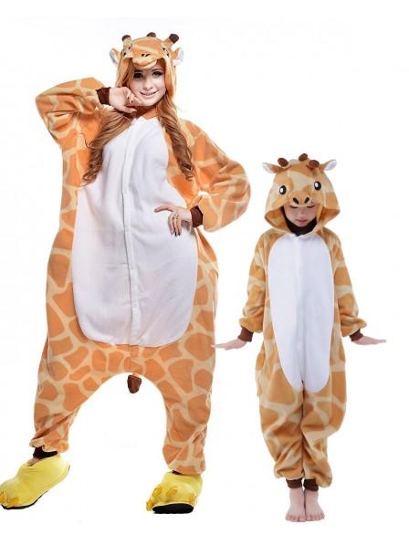 Giraffe Kigurumi Onesie Pyjamas Tier Kostüme für Erwachsene und Kinder