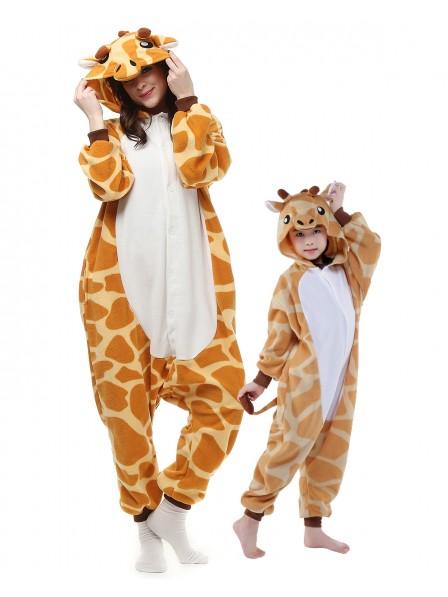 Giraffe Kigurumi Unisex Onesie Pyjamas Tier Kostüme für Erwachsene und Kinder