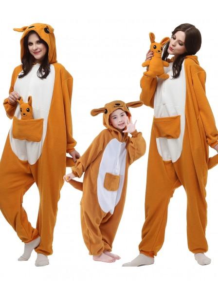 Känguru Kigurumi Unisex Onesie Pyjamas Tier Kostüme für Erwachsene und Kinder