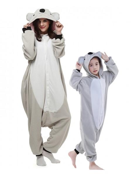 Koala Kigurumi Unisex Schlafanzug Onesie Pyjamas Tier Kostüme für Erwachsene und Kinder