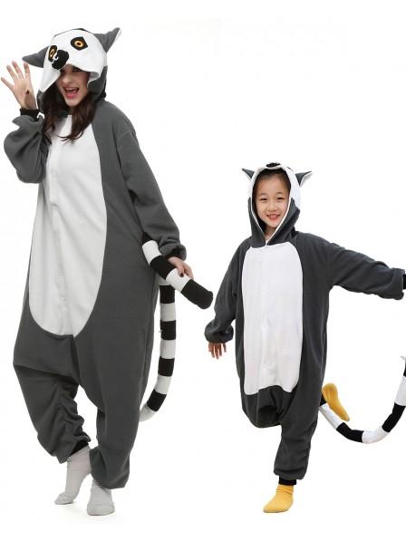 Lemur Kigurumi Unisex Onesie Pyjamas Tier Kostüme für Erwachsene und Kinder
