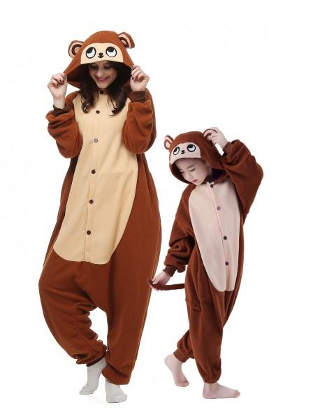 Affe Kigurumi Unisex Onesie Pyjamas Tier Kostüme für Erwachsene und Kinder