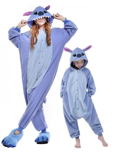 Blue Stitch Kigurumi Onesie Pyjamas Tier Kostüme für Erwachsene und Kinder