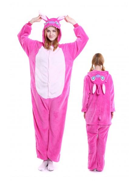 Pink Stitch Pyjama Onesies Weich Tier Kostüme Für Damen & Herren Schlafanzug Kostüm