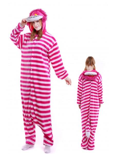 Grinsende Katze Pyjama Onesies Weich Tier Kostüme Für Damen & Herren Schlafanzug Kostüm
