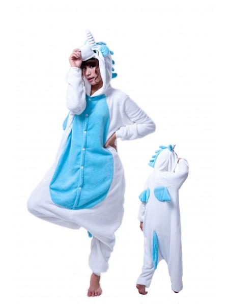 Blaues Einhorn Pyjama Onesies Weich Tier Kostüme Für Erwachsene Schlafanzug Kostüm