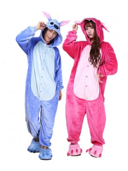 Blauer Stitch Pyjama Onesies Weich Tier Kostüme Für Damen & Herren Schlafanzug Kostüm