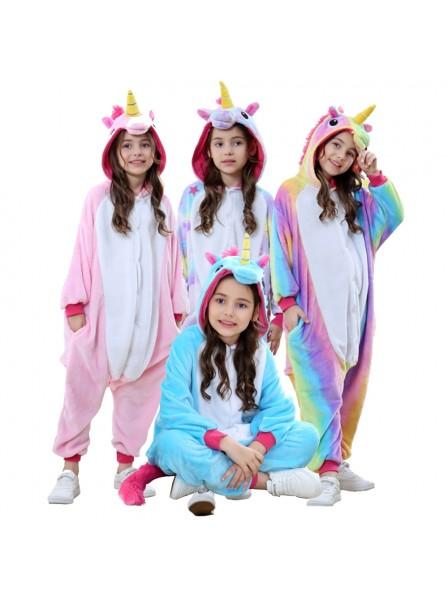 Einhorn Schlafanzug Kostüm Onesie Tierkostüm Für Kinder Pyjama