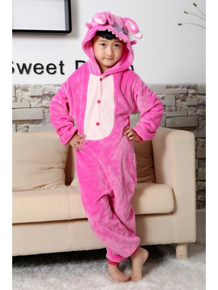 Pink Stitch Pyjama Onesies Kinder Tier Kostüme Für Jugend Schlafanzug Kostüm