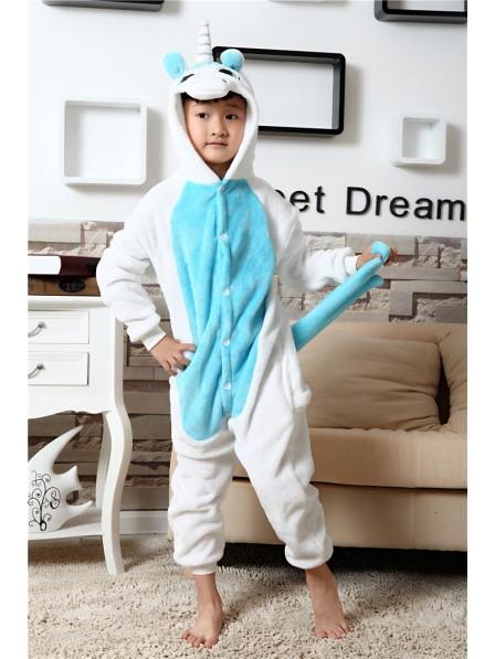 Blaues Einhorn Pyjama Onesies Kinder Tier Kostüme Für Jugend Schlafanzug Kostüm