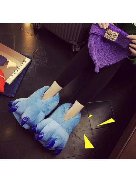 BlauPlüsch Pfote Kralle Hausschuhe Pantoffel Tier Kostüm Schuhe