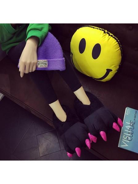 SchwarzPlüsch Pfote Kralle Hausschuhe Pantoffel Tier Kostüm Schuhe