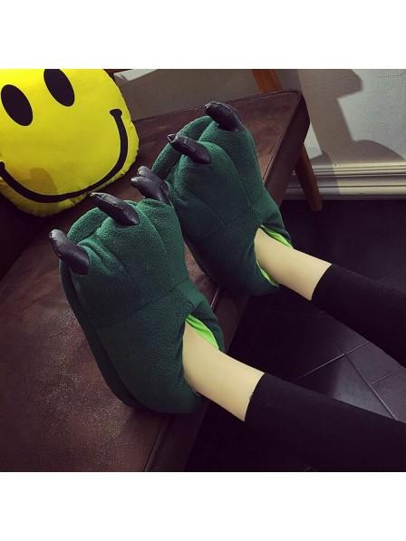 GrünPlüsch Pfote Kralle Hausschuhe Pantoffel Tier Kostüm Schuhe