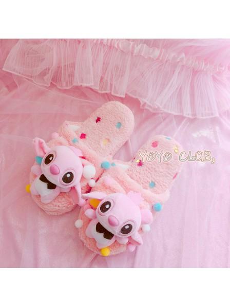 Blau Stitch Und Pink Stitch Lilo Angel Hausschuhe Pantoffel Tier Kostüm Schuhe