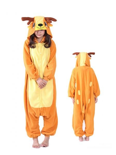 Sika-Hirsch Pyjama Onesie Tier Schlafanzug Kostüm