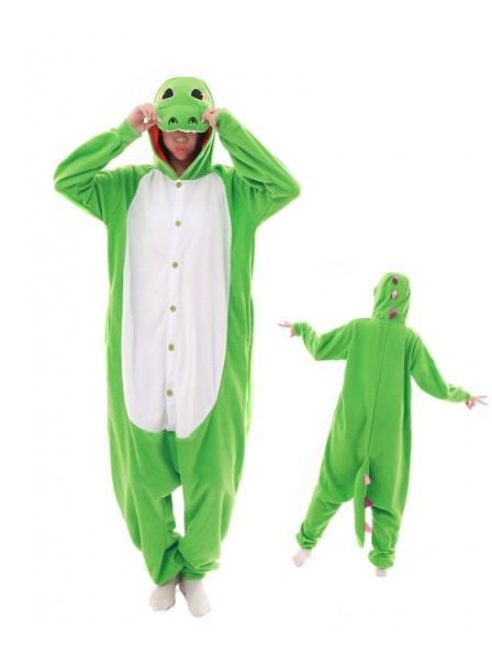 Grüner Drache Pyjama Onesies Tier Schlafanzug Kostüm