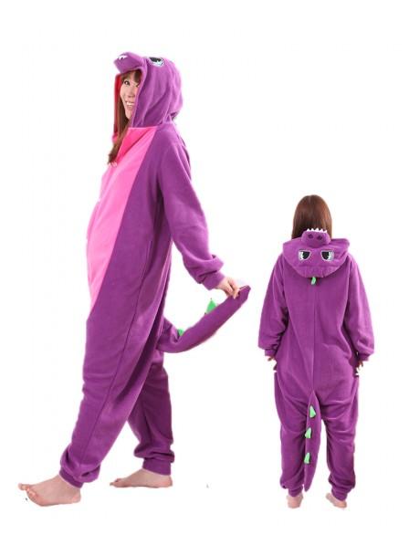 Violetter Drache Pyjama Onesies Tier Schlafanzug Kostüm