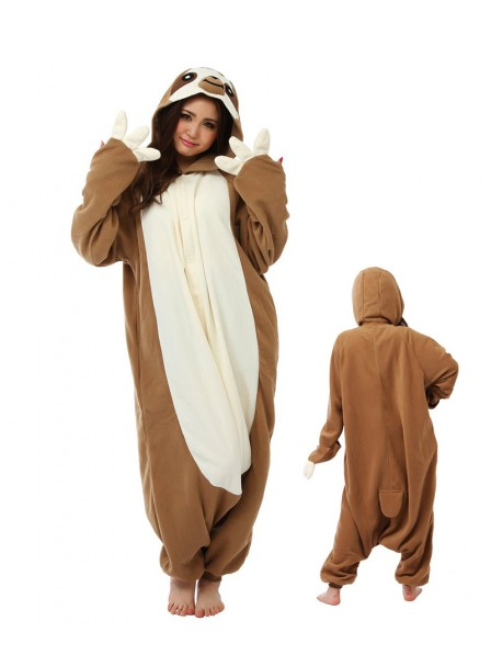 Faultier Pyjama Onesies Damen Tier Schlafanzug Kostüm
