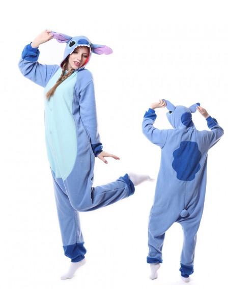Blauer Stitch Pyjama Onesies Tier Schlafanzug Kostüm