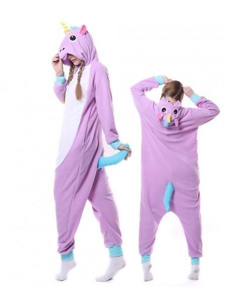 Neu Violettes Einhorn Pyjama Onesies Tier Schlafanzug Kostüm
