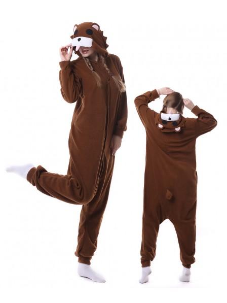Braunbär Pyjama Onesies Tier Schlafanzug Kostüm