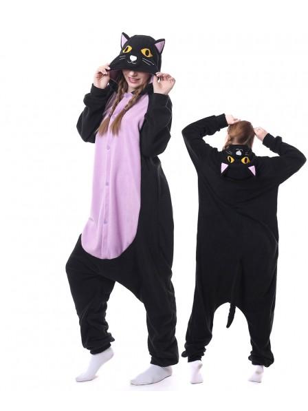 Mitternachtskatze Pyjama Onesies Tier Schlafanzug Kostüm