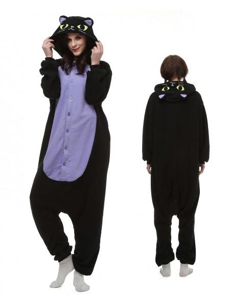 Mitternachtskatze Pyjama Onesies Tier Kostüme Für Erwachsene Schlafanzug Kostüm
