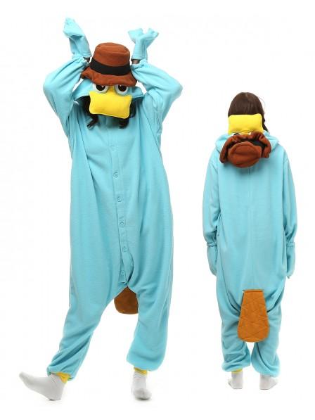 Schnabeltier Pyjama Onesies Tier Kostüme Für Erwachsene Schlafanzug Kostüm