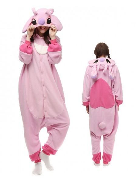 Stitch and Angel Pyjama Onesies Tier Kostüme Für Erwachsene Schlafanzug Kostüm