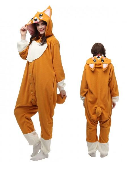 Corgi Dog Pyjama Onesies Tier Kostüme Für Erwachsene Schlafanzug Kostüm