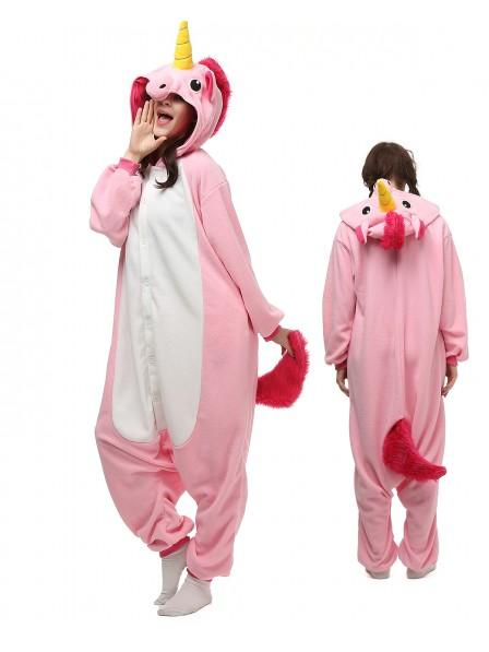 Rosa Einhorn Pyjama Onesies Tier Kostüme Für Erwachsene Schlafanzug Kostüm