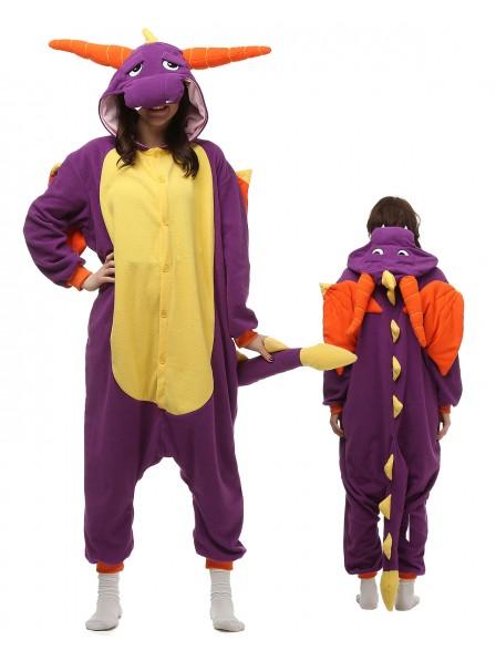 Violetter Drache Pyjama Onesies Tier Kostüme Für Erwachsene Schlafanzug Kostüm
