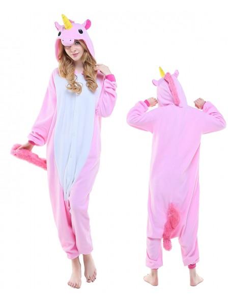 Neu Rosa Einhorn Pyjama Onesies Tier Kostüme Für Erwachsene Schlafanzug Kostüm