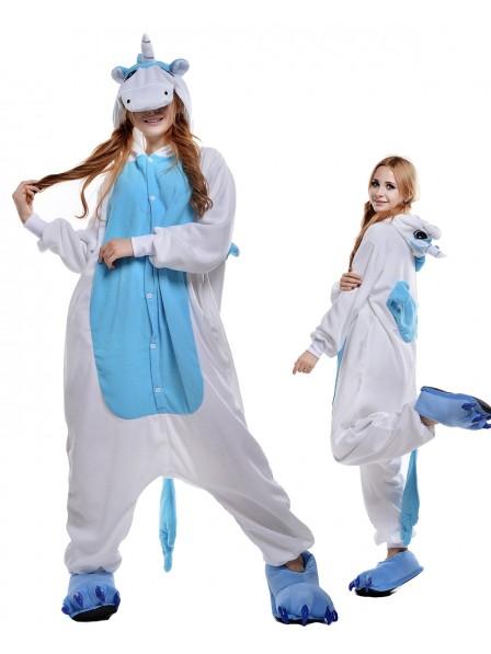 Blaues Einhorn Pyjama Onesies Tier Kostüme Für Erwachsene Schlafanzug Kostüm