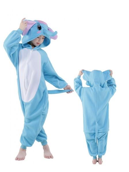 Blauer Elefant Onesie Kinder Tier Kostüme Für Jugend Schlafanzug Kostüm