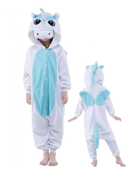 Blaues Einhorn Onesie Kinder Tier Kostüme Für Jugend Schlafanzug Kostüm