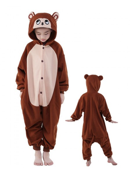Braun Affe Onesie Kinder Tier Kostüme Für Jugend Schlafanzug Kostüm