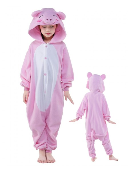 Pink Schwein Onesie Kinder Tier Kostüme Für Jugend Schlafanzug Kostüm